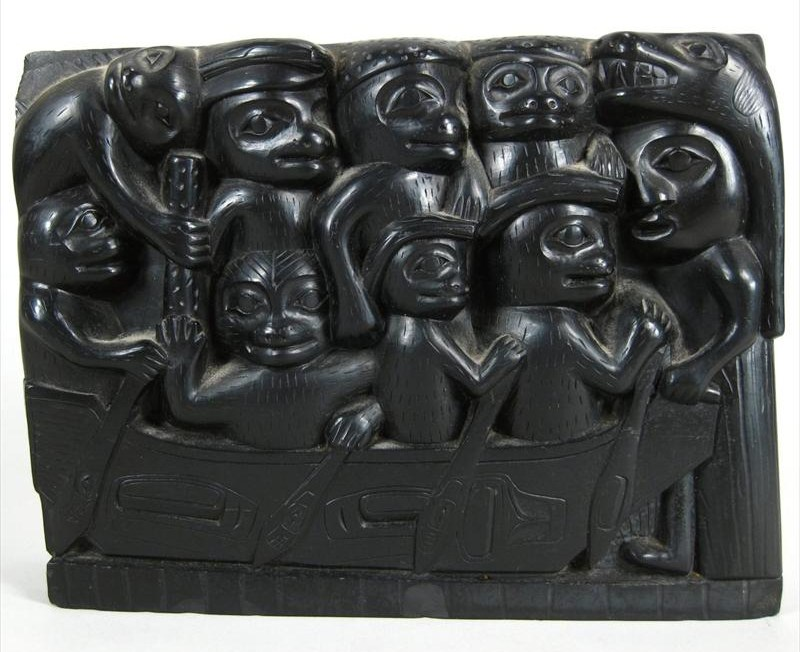 Haida Argillite Figural Carving, Northwest Coast, Skidegate, Late 19th C. Sold For $3,250.