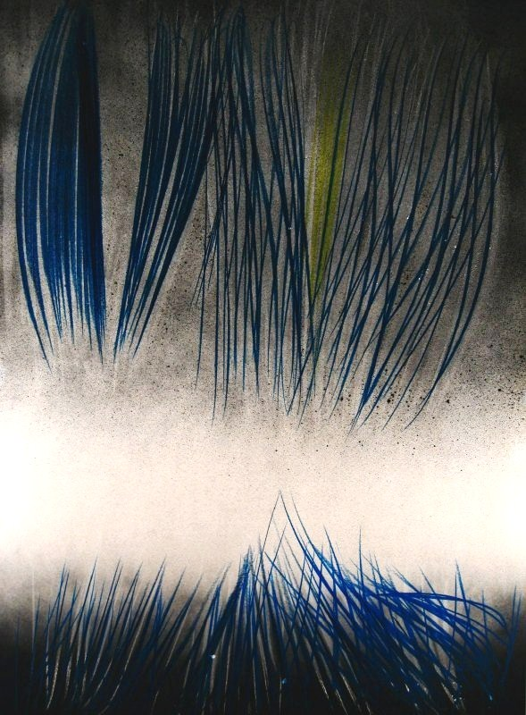 Hans Hartung, German, 1904-1989, 'Abstract', Painting On Board. Sold For $84,000.