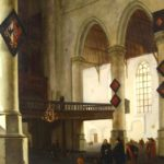 Hendrik Cornelisz Van Vliet, Delft, 1611-1675, 'Oude Kerk In Delft', Oil On Panel. Sold For $16,200.