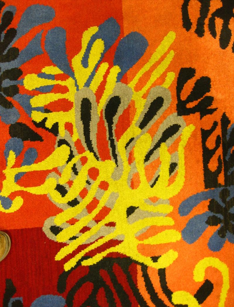 Henri Matisse, French, 1869-1954, Mimosa, 1951, Tapestry Panel Rug. Sold For $3,375.