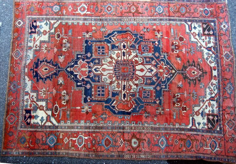 Heriz Carpet, Circa 1890-1910. Sold For $13,201.