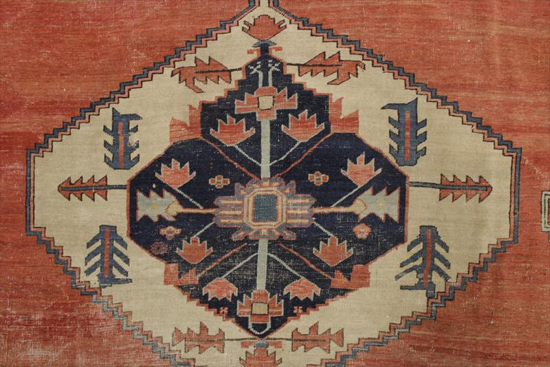 Heriz Carpet, Red Ground, Early 20th C. Sold For $3,756.