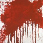 Hermann Nitsch, Austrian, B. 1938, 'Red', Spilled Paint And Possibly Blood On Canvas. Sold For $22,320.