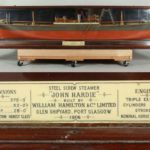 Immense Cased Half Hull 1906 Ship Model, The John Hardie Screw Steamer Of Glasgow. Sold For $4,250.