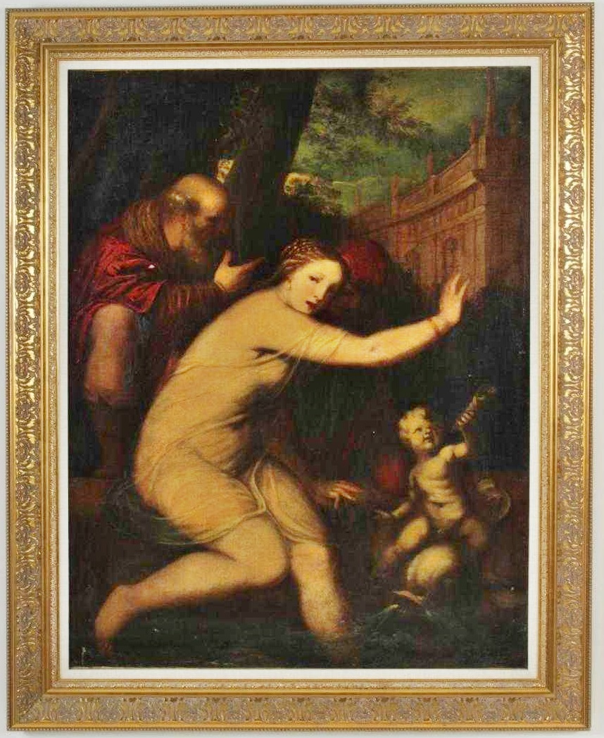 Italian School, 16th-17th C., Venus And Mars Surprised By Vulcan. Sold For $4,550