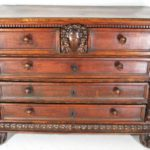 Italian Walnut Commode, 17th C. Sold For $9,812.
