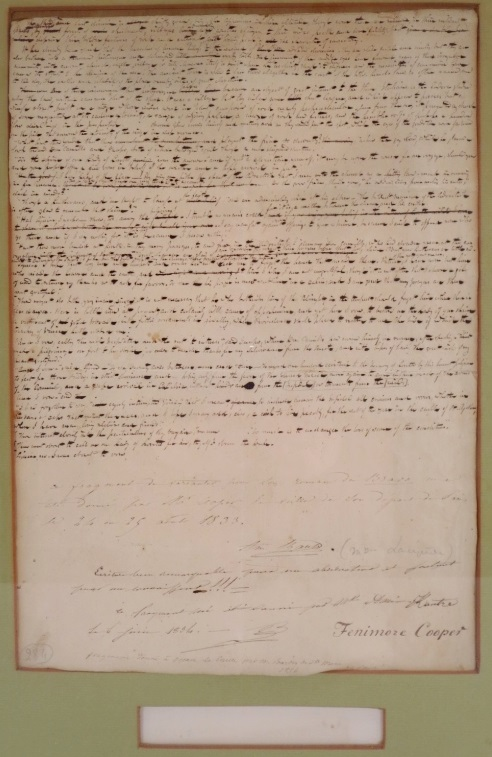 James Fenimore Cooper Holograph The Bravo 1831, Sold For $1,500