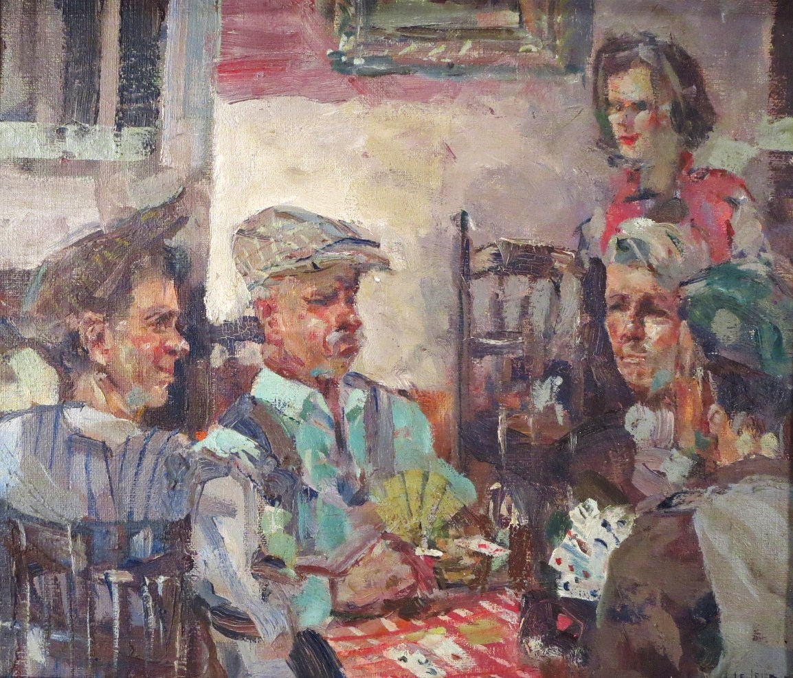 James LeJeune, British, 1918-1983, Card Players. Sold For $6,718.