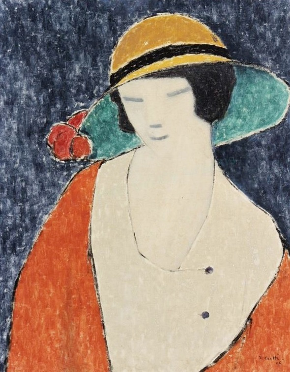 Jean Crotti, French, 1878-1958, Woman With Hat, C.1906. Sold For $8,437