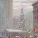 Johann Berthelsen, 1883-1969, St. Paul's Church By City Hall. Sold For $6,093.