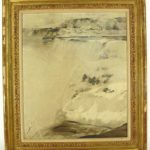 John Henry Twachtman, American, 1853-1902, 'Niagara Falls', Oil On Canvas. Sold For $76,200.