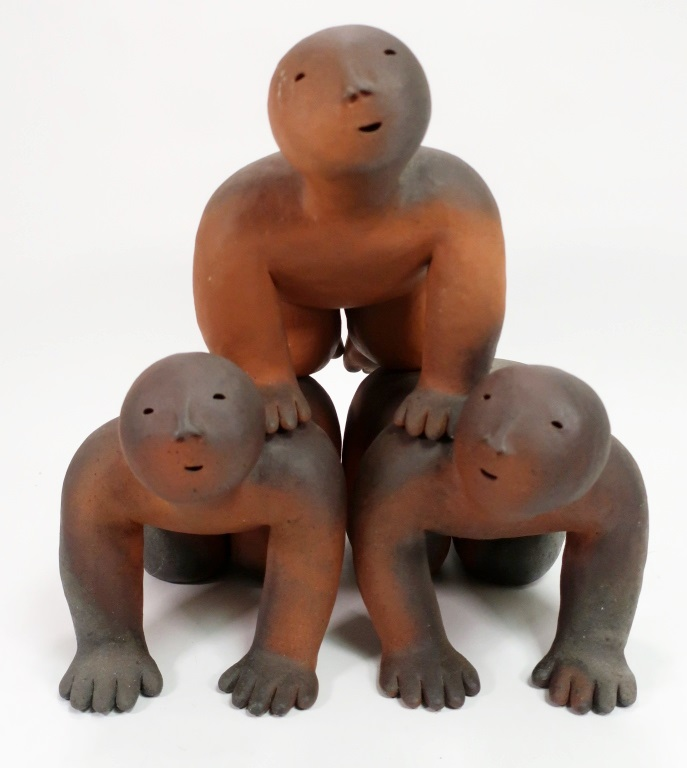 Joy Brown, American, 20th C., Three Figures, Ceramic. Sold For $10,000