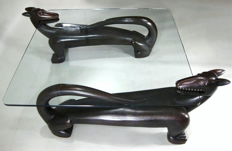 Judy Kensley McKie, American, B. 1944, Bronze & Glass Animal Form Coffee Table. Sold For $31,200.