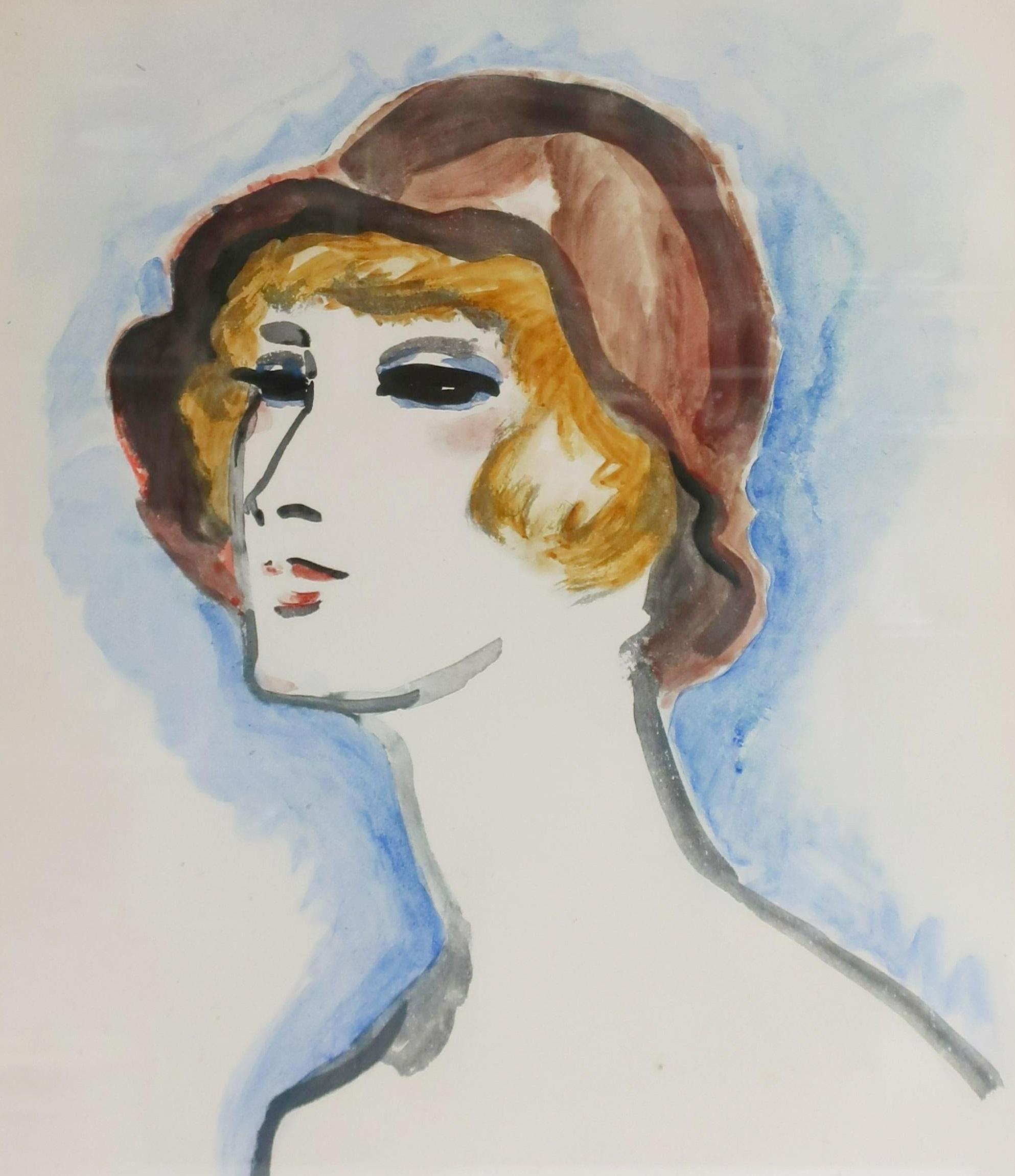 Kees Van Dongen, Tete De Femme Au Chapeau, 1925-301. Sold For $10,725