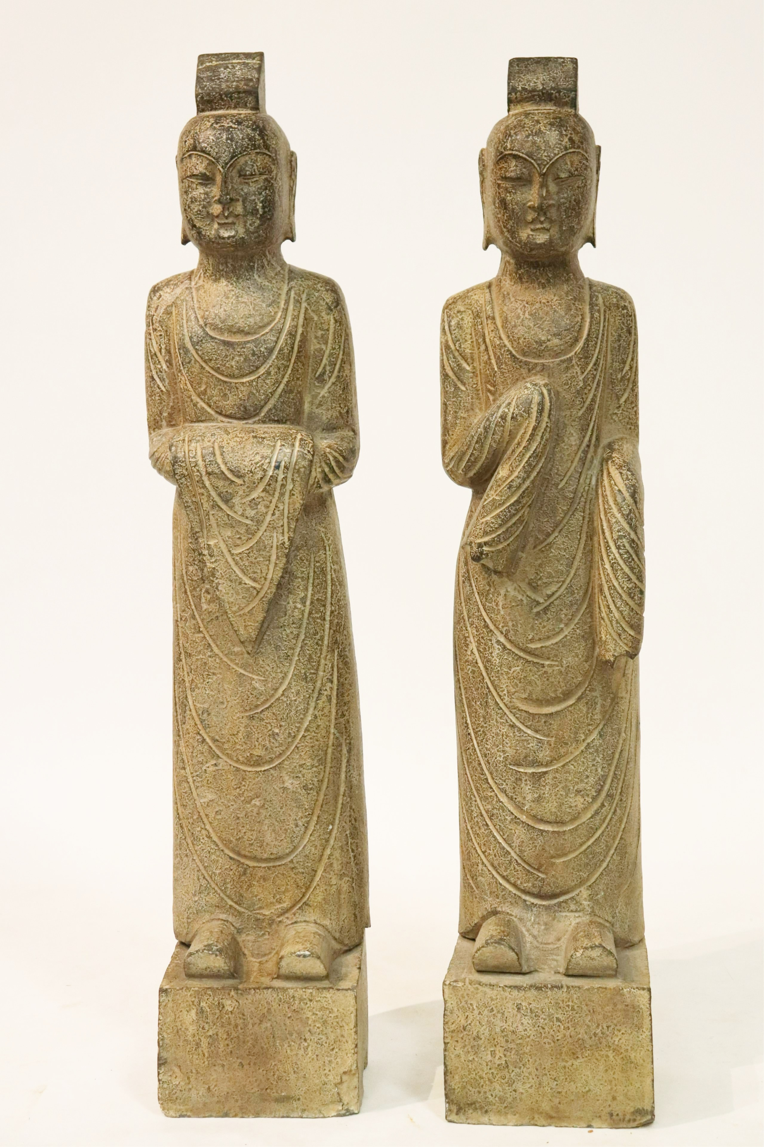 Large Pair Stone Lohans. Sold For $7,150