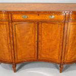 Late Georgian-Regency Inlaid Satinwood Concave Front Side Cabinet, C. 1790-1830. Sold For $15,000.