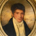 Louis Antoine Collas, 1776-1856, Active In New Orleans C.1822-1829, Oval Portrait Of A Young Man In White Tie, 1820's. Sold For $10,312.