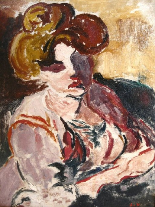 Louis Valtat, French, 1869-1952, 'Jeune Fille', Oil On Canvas. Sold For $28,800.