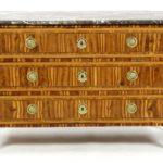 Louis XVI Exotic Veneer Wood Commode. Sold For $4,375