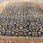 Mahal Carpet, Early 20th C., Deep Blue Field. Sold For $6,563