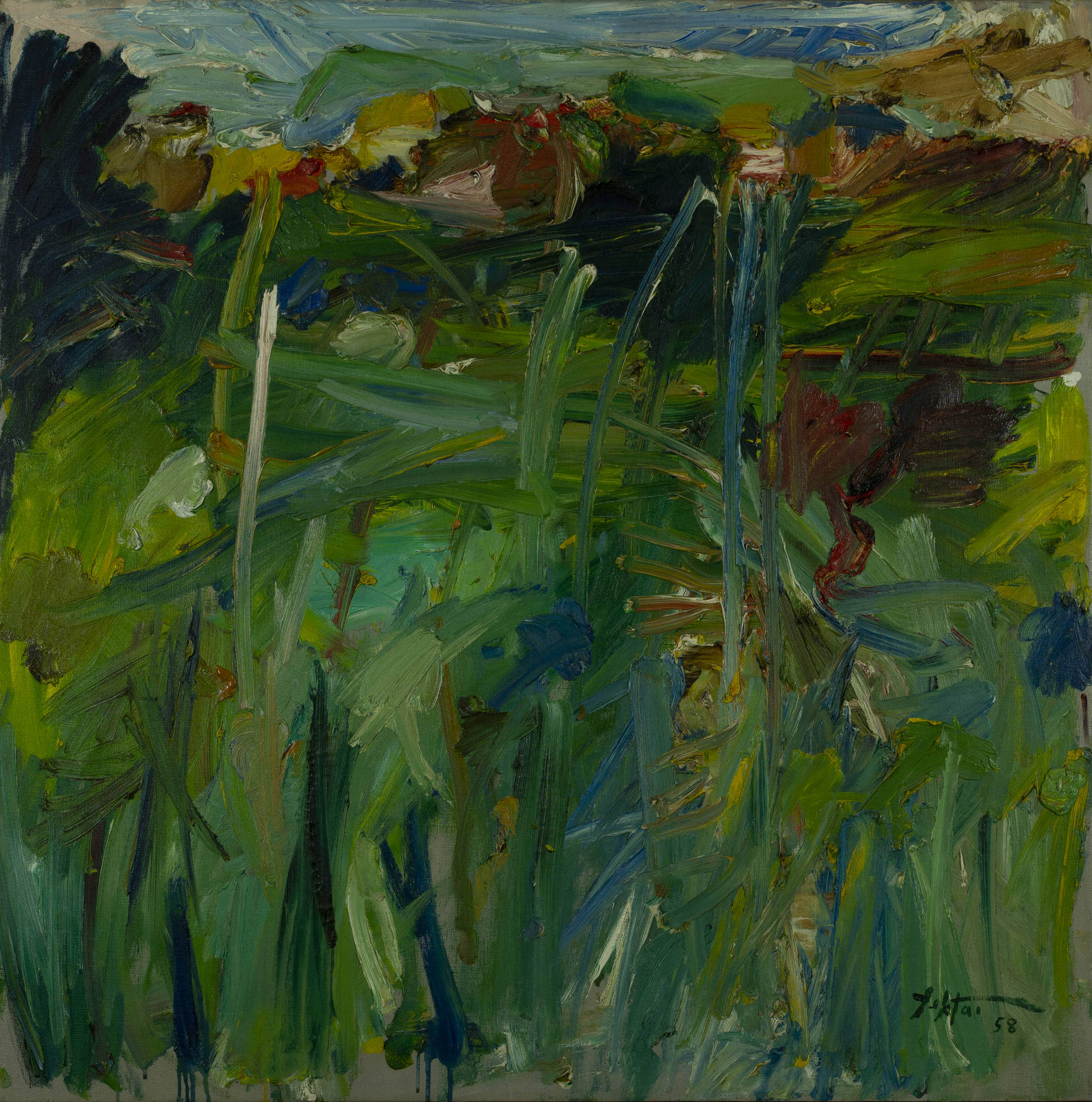Manoucher Yektai (American-Iranian, B.1921) Positano Landscape (#3). Sold For $75,000 At Partner Capsule Gallery Auction