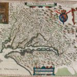 Map.'Nova Virginia Tabula', Colored Engraving, Ex Officina Giuljelmi Blaeuw, D. Grijp Sculp. Sold For 1,272.