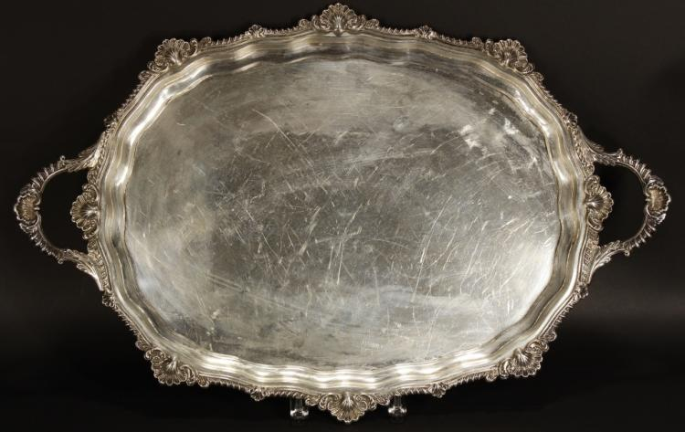 Massive Birks & Son Sterling Tray, 130 Troy Ounces, Sold For $2,375