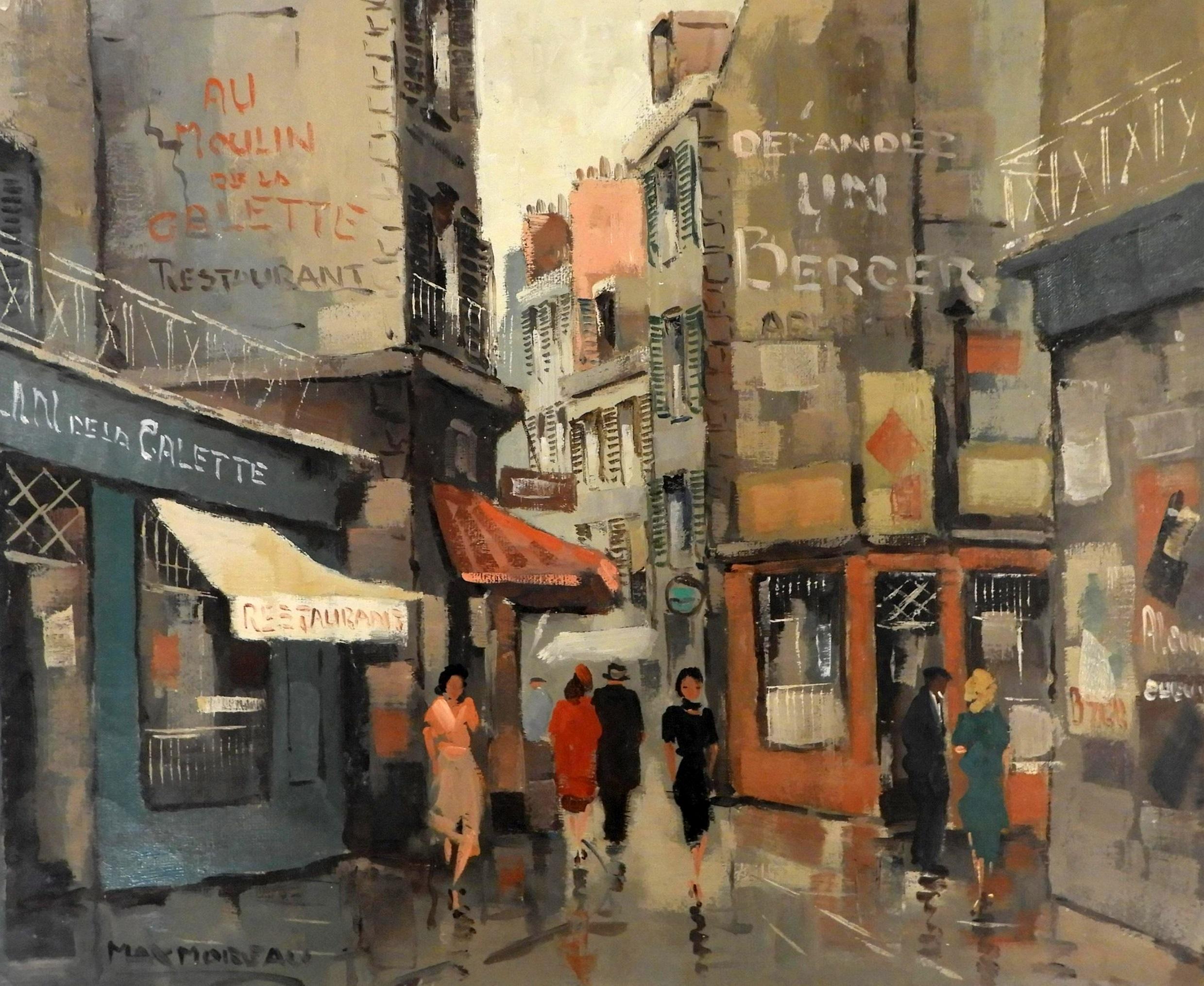 Max Moreau – Parisian Street Scene, 1959. Sold For $5,330