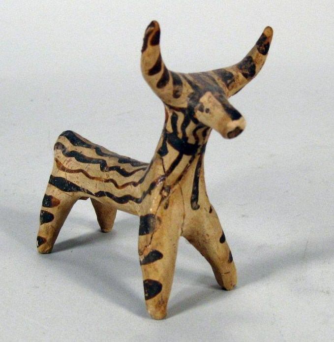 Mycenaean Terracotta Cow-Deer Figure, 1700-1400 BC. Sold For $2,187.
