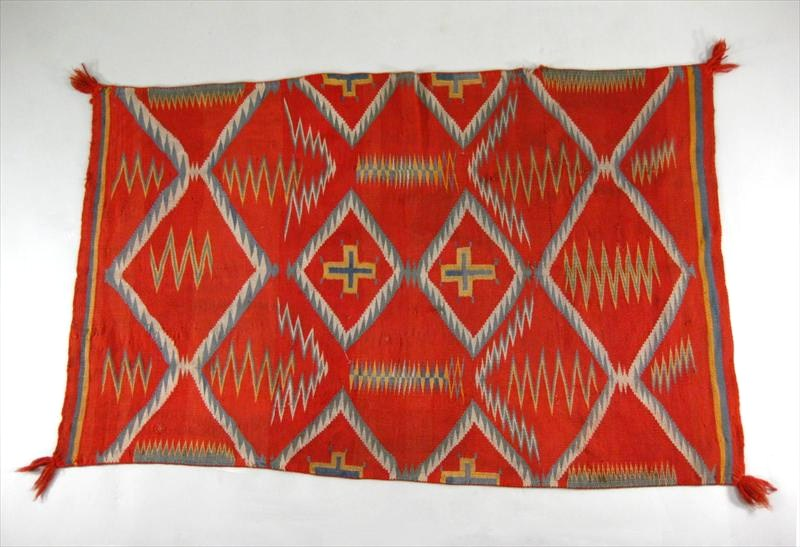Navajo Wool Childs Wearing Blanket, Native American, Late 19th C. Sold For $1,200.