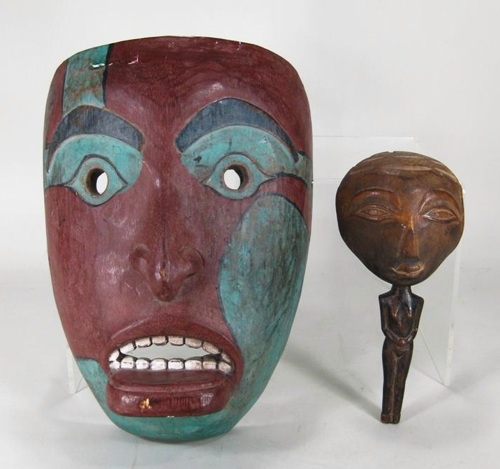 Northwest Coast Ceremonial Mask, Probably Haida, 20th C.. Sold For $4,500.