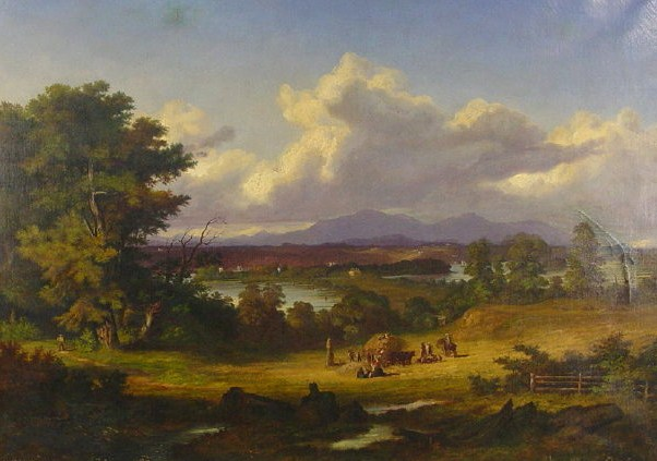 P.B. Wilhelme Heine, German, 1827-1885, 'Crugers Island & The Catskill Mountains' Oil On Canvas. Sold For $21,600.
