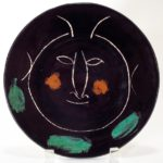 Pablo Picasso, Black Face H Madoura Plate, 1948 (everal Picasso Ceramics In This Sale)