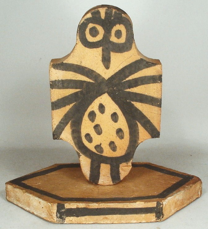 Pablo Picasso, Spanish, 1881-1973, Spotted Owl Sculpture (Tomette L'hibou Ceramique). Sold For $46,800.