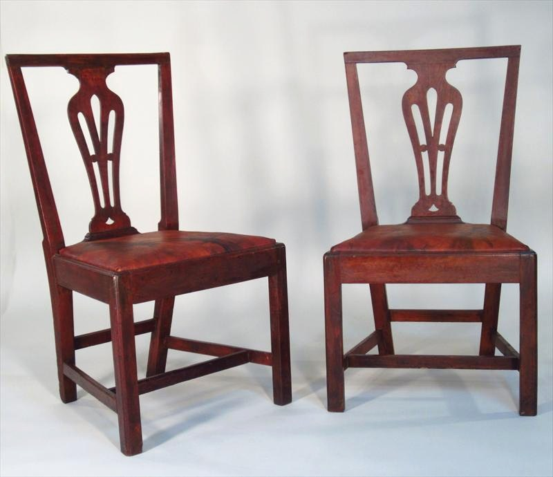 Pair Of Federal Mahogany Side Chairs, Litchfield, CT, Late 18th-Early 19th C. Sold For $12,000.