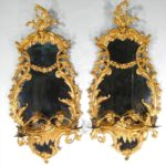 Pair Of George III Giltwood Girandoles, English, 18th C. Sold For $19,800.