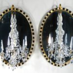 Pair Of George III Girandole Mirrors, Irish, C. 1790 And Later. Sold For $40,800.