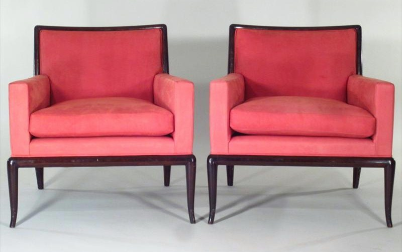 Pair Of Modern Armchairs, Robsjohn Gibbings For Widdicomb, Mid 20th C. Sold For $10,312.