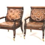 Pair Of Regency Style Library Chairs- From TV Show Penny Dreadful. Sold For $3,875