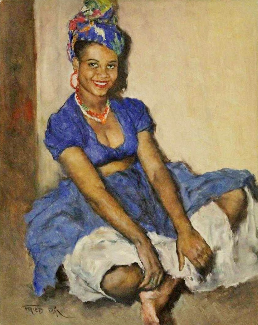 Pal Fried, Hungarian-American, 1893-1976, Jamaican Girl #5. Sold For$4,290