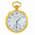 Patek Philippe 18k Pocket Watch. SOld For $5,625. NOV 2014. ITEM NO. 3673878