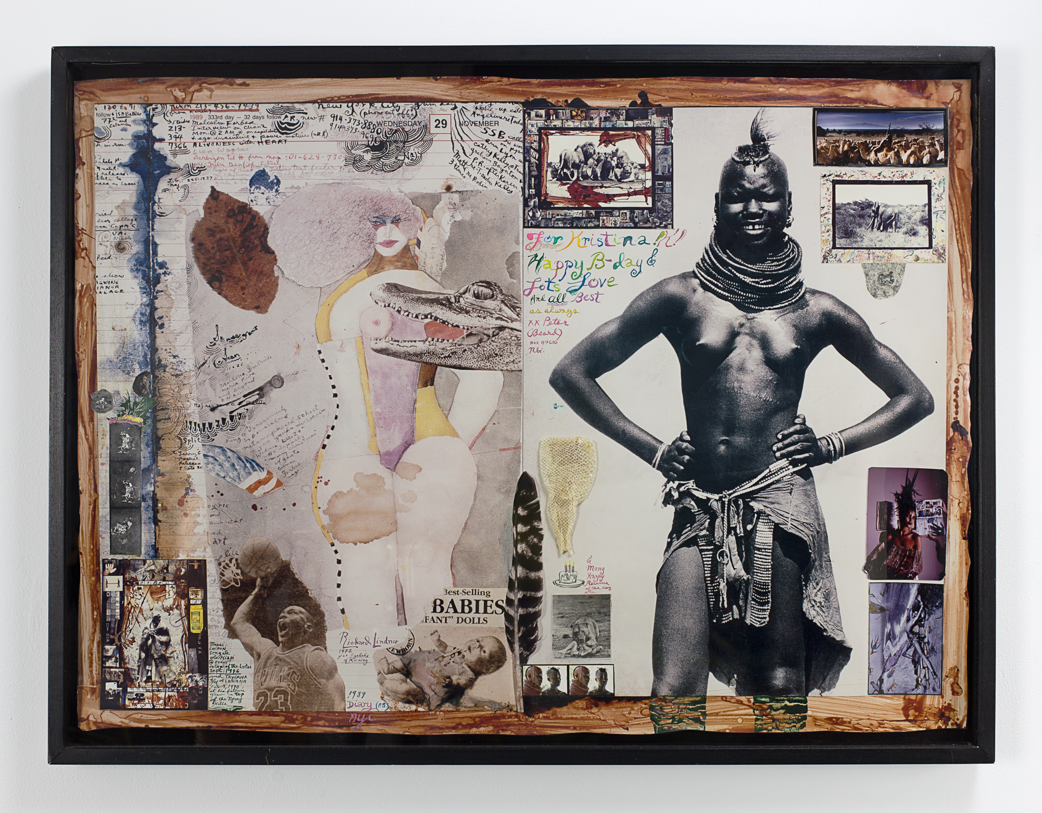 Peter Beard For Kristina, Happy B-Day C. 1995. Sold For $10,625 At Capsule Gallery Auction
