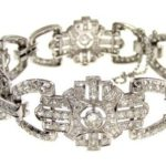 Platinum And Diamond Bracelet, Mid 20th C. Sold For $6,250.