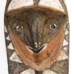 Polychrome Painted Carved Ironwood Mask, Possibly Oceanic. April 2011. Sold For $4,750.