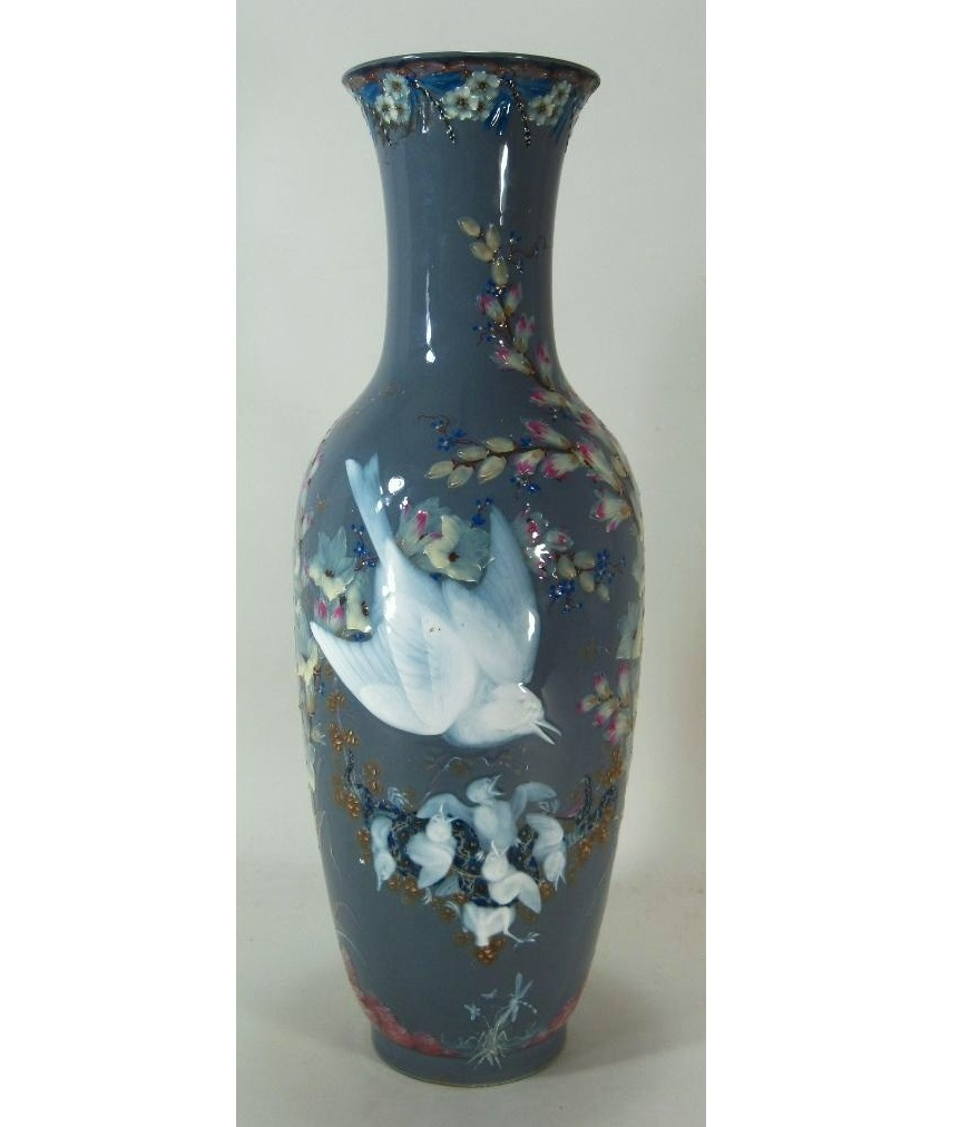 Porcelain Vase Decorated In Pate-sur-Pate By J. Gely, Act. 1851-1888. Sold For $14,401.