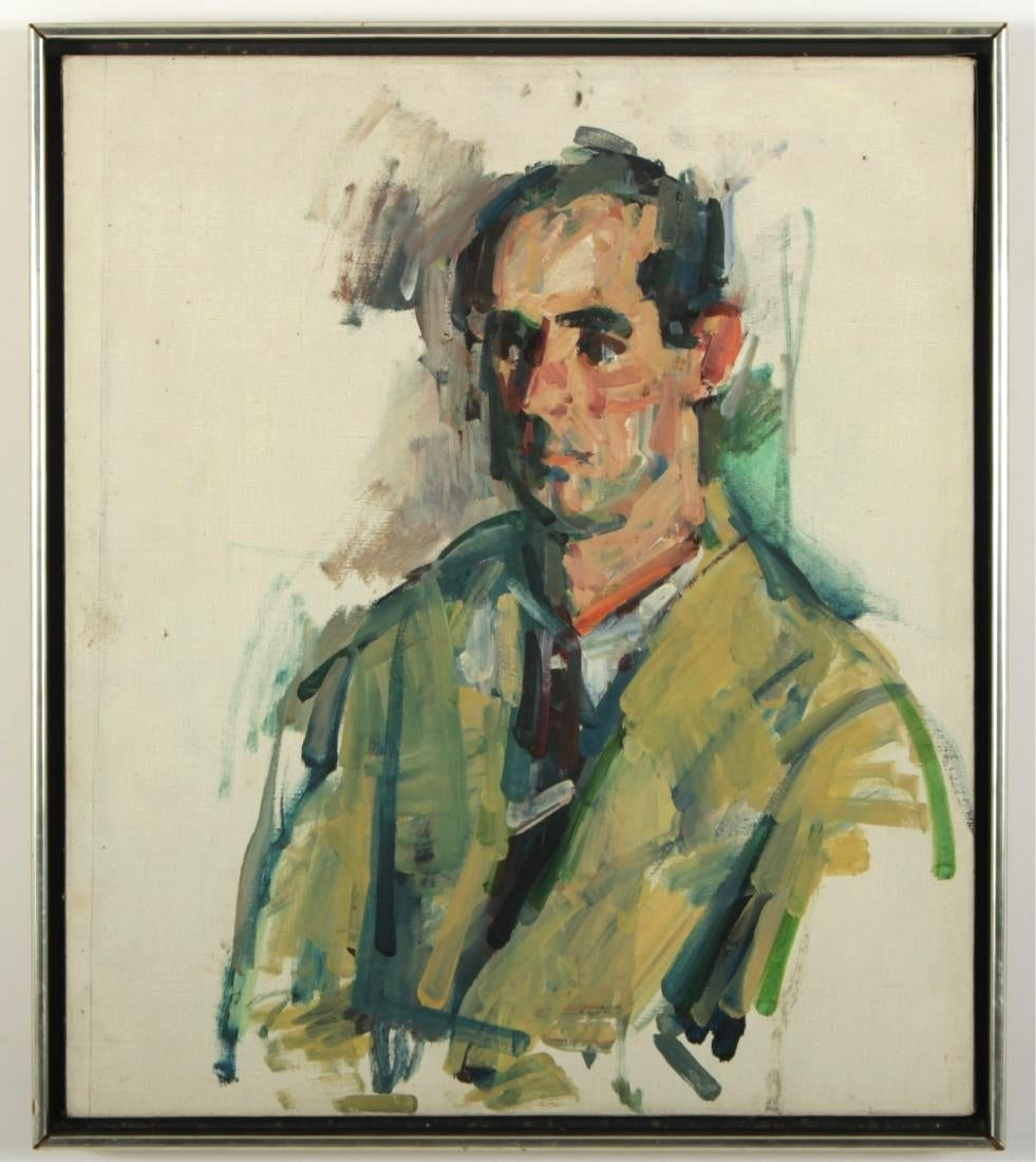 Portrait Of Philip Roth, Oil On Canvas. Sold For $19,500