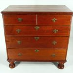 Queen Anne Walnut Chest Of Drawers, American, Possibly Mid-Atlantic, Early 18th C. Sold For $11,250.