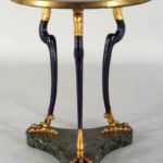 Regency Parcel Gilt Ebonized Marble-top Gueridon, English, 1810-1820. Sold For $17,400.