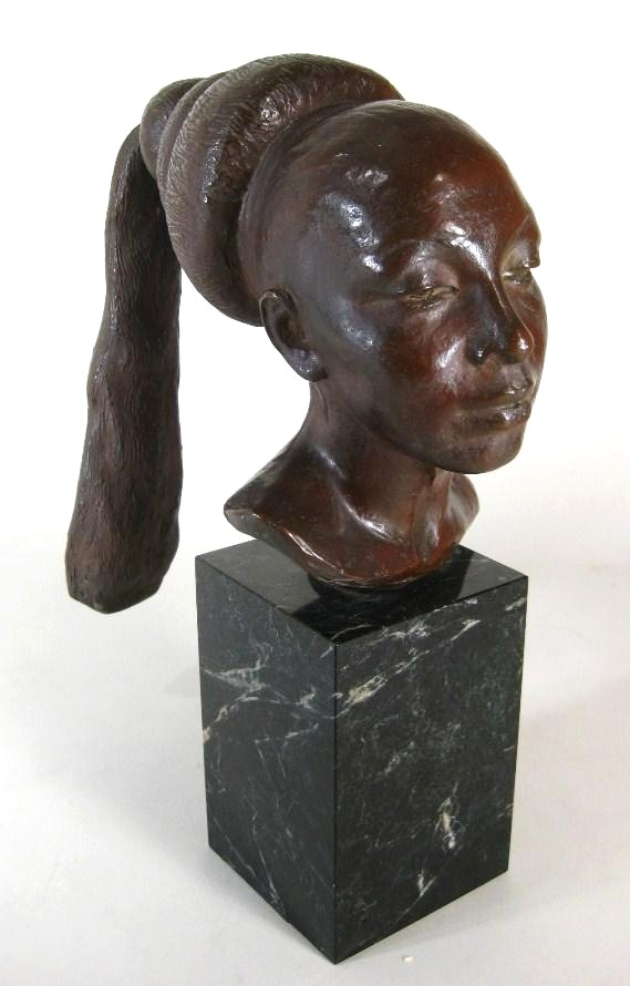 Richmond Barthe, African-American, 1901-1989, 'Josephine Baker', C.1951, Bronze . Sold For $26,400.