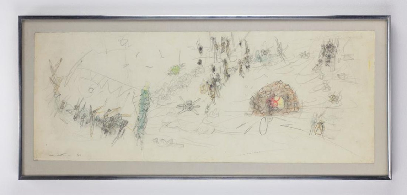 Roberto Matta (Chilean, 1911-2002) Work On Paper '53. Sold For $7,812 At Capsule Gallery Auction
